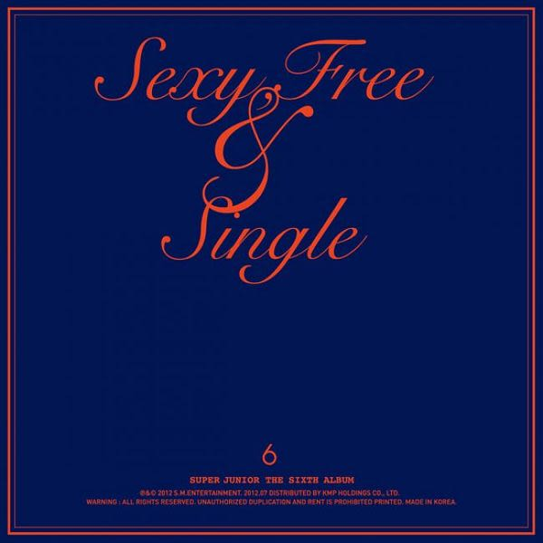 SUPER JUNIOR Sexy Free & Single CD 精裝台壓版 (音樂影片購)