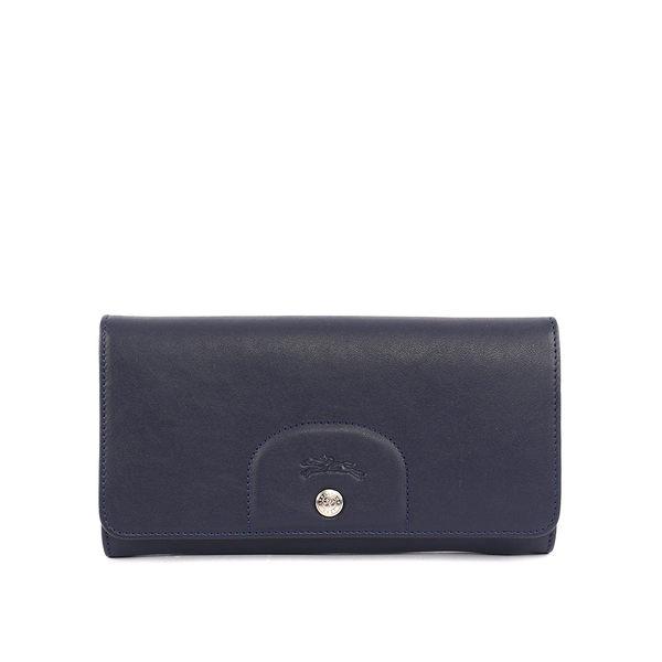 【LONGCHAMP】小羊皮對折長夾(海軍藍) 3146737556