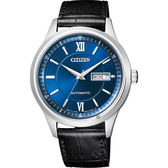 CITIZEN 星辰 爵士機械錶-藍x黑/40mm NY4050-03L