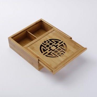 春滿門竹藝擺飾盒