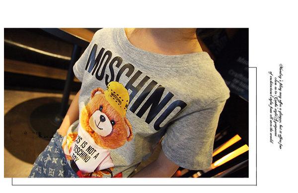 *╮S13小衣衫╭*中性款可愛小熊小熊灰色t    1060413