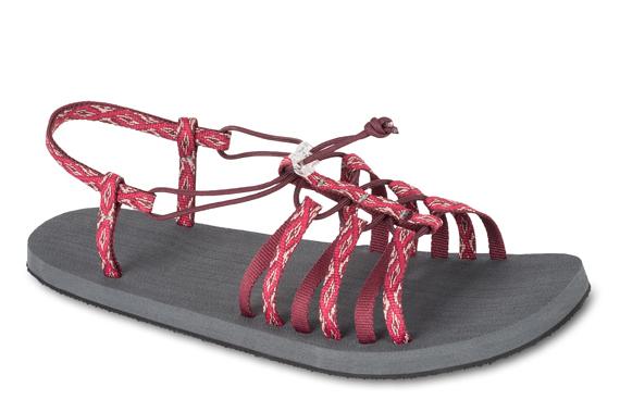 Lizard 巴奇娃 防滑底輕量涼鞋 LI11561 EC櫻桃紅彩紋 女款 義大利製 水陸鞋 織帶涼鞋【易遨遊】