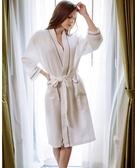華夫格浴袍純棉男女浴服美容院SPA酒店浴衣