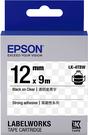 LK-4TBW EPSON 標籤帶 (透明底黑字/12mm) C53S654411
