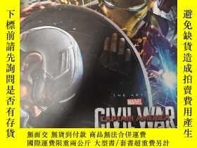 二手書博民逛書店美國隊長三:內戰罕見電影藝術畫冊 Marvel s Captain America: Civil War: The