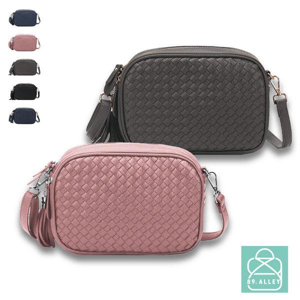 側背包 編織包 實用雙層流蘇方包斜背包 女包 89.Alley-HB89273