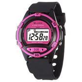 捷卡 JAGA  防水多功能 運動錶 電子錶 冷光照明 夜光 黑桃 學生錶/兒童手錶/女錶 M267-AG