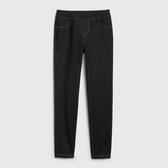 Gap女童棉質舒適鬆緊腰針織褲539688-正黑色