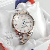 valentino coupeau范倫鐵諾 古柏 風車紋晶鑽時刻指針錶 防水手錶 男錶 學生錶 白面x玫瑰金 V61607TRAM-1