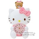 〔小禮堂〕Hello Kitty 造型搖擺壁掛鐘《粉.坐姿.小熊.盒裝》造型可愛迷人 4901610-71041