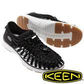 【KEEN 美國】UNEEK O2女拉繩涼鞋『黑』1017055 健行.涼鞋.自行車.溯溪.健走.海邊.沙灘鞋.戶外