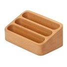 名片盒 實木高檔名片盒創意簡約大容量卡片收納盒前臺展會多層斜面名片架【快速出貨八折下殺】