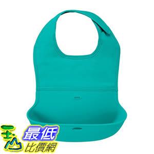 [107美國直購] 防水矽膠卷起圍兜 OXO Tot Waterproof Silicone Roll Up Bib with Comfort-Fit Fabric Neck