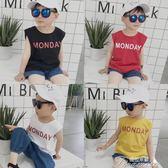 男童T恤 寶寶無袖T恤2夏季男童背心上衣3白色4黑色男寶韓版體恤衫1-5歲潮  提拉米蘇