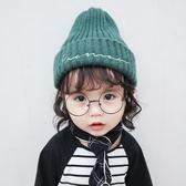 寶寶兒童毛帽子針織帽秋冬純色男童女童毛線帽保暖護耳