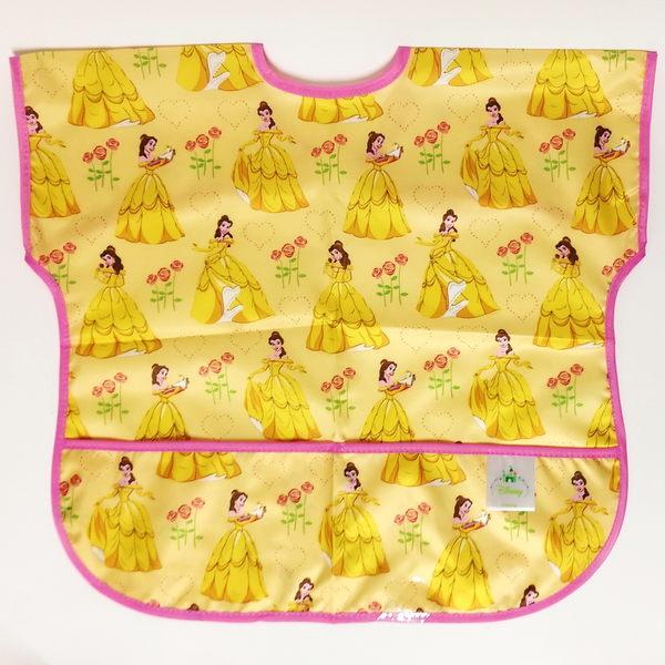 美國 bumkins Junior Bib 迪士尼 防水 防臭 防污 無袖防水圍兜口水巾1-3歲 (公主款)-超級BABY