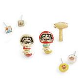 〔APM 飾品〕 Gargle  文化之美:懷舊玩具不倒翁耳環組白達摩紅達摩