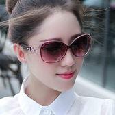 墨鏡/太陽眼鏡 時尚歐美復古個性舒適逛街 圓臉墨鏡蛤蟆鏡 巴黎春天