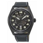 【台南 時代鐘錶 SEIKO】精工 潮流飛行風格機械時尚男錶SRPC89J1@4R35-02W0SD 黑 44mm