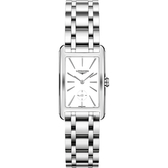 LONGINES 浪琴 DolceVita 意式優雅小秒針石英女錶-白x銀/23mm L55124116