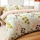 床包兩用被套組 / 雙人加大【草本情迷綠】100%純棉,含兩件枕套,戀家小舖台灣製C13-AAC315