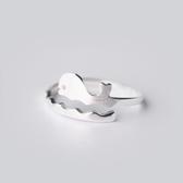 戒指 925純銀-可愛小海豚生日情人節禮物女開口戒73dt222【時尚巴黎】