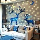 夜光貼3D立體墻貼臥室裝飾貼紙床頭佈置創意房間墻紙自黏熒光星星 【快速出貨】