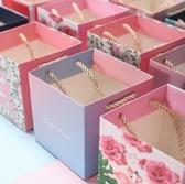 創意喜糖盒手提袋禮品袋小號手提紙袋包裝袋個性韓式回禮喜糖禮袋  熊熊物語