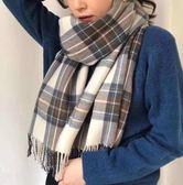 浪漫冬季格紋保暖圍巾/披肩【美麗間】