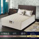【LAKA】 防螨抗菌 二線蜂巢式獨立筒床墊(Free night系列)雙人加大6尺