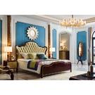 [紅蘋果傢俱]美式歐式 8808#床(8802A#床頭櫃8802#穿衣鏡)套組 床架 實木床 臥室