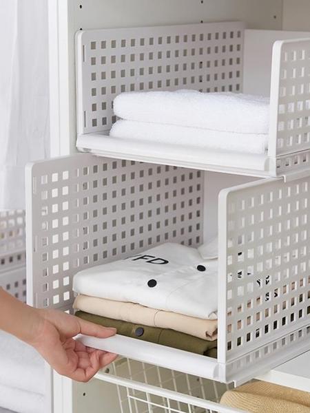 抽屜式收納筐塑料分隔多層衣櫥置物架