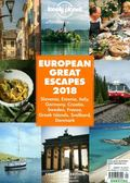 lonely planet:EUROPEAN GREAT ESCAPES 2018