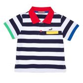 『小鱷魚童裝』撞色條紋POLO衫(02號~08號)359104