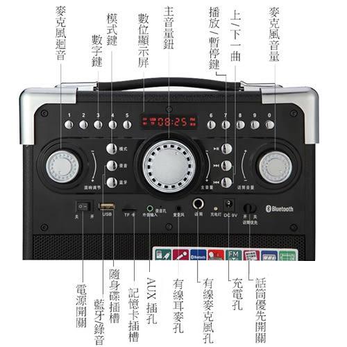 大聲公典雅型無線麥克風多功能行動音箱 (耳掛+話筒組)