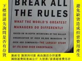 二手書博民逛書店英文原版罕見First, Break All the Rules