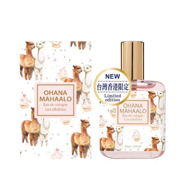 【OHANA MAHAALO】微笑夥伴 輕香水30ml(附紙盒)