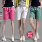 短褲 韓版棉麻五分褲女夏季寬鬆大碼休閒直筒中褲學生顯瘦5分褲短褲子 5色S-3XL