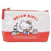 【KP】Hello Kitty 紅白化妝包 三麗鷗 多用途包 小物收納包 正版日本進口授權 4901770583242
