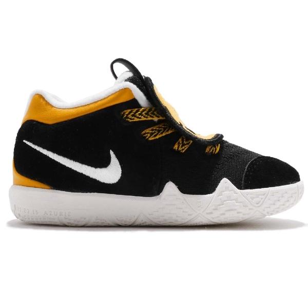 Nike Kyrie 4 TD LB Little Beast 黑 黃 小豹 動物鞋舌 免綁鞋帶 籃球鞋 童鞋 小童鞋【ACS】 AT5708-001