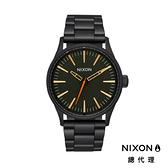 【官方旗艦店】NIXON SENTRY 38 SS 極簡復刻 消光黑X綠 潮人裝備 潮人態度 禮物首選