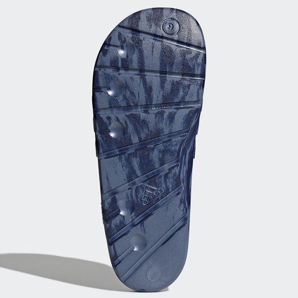 Adidas DURAMO SLIDES 男鞋 女鞋 拖鞋 防水 潑墨 深藍 【運動世界】CQ0136