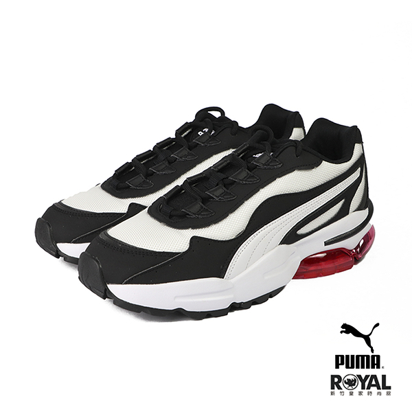 Puma 新竹皇家 Cell Stellar 黑/白色 皮質 網布 復刻 休閒運動鞋 女款 No.I9770