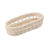 科德斯簍空橢圓長型編織籃W28 米白