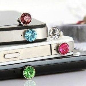 【SZ特價】韓國最新流行 水鑽防塵塞 手機平板耳機孔通用 3.5MM 耳機 防塵塞(不挑色/款)