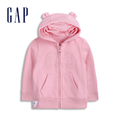 Gap女嬰 Logo甜美純色熊耳造型連帽外套 567714-經典粉紅色