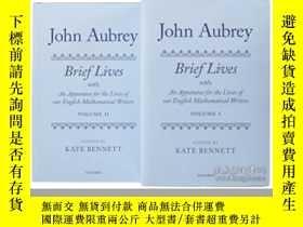 二手書博民逛書店John罕見Aubrey: Brief Lives With A