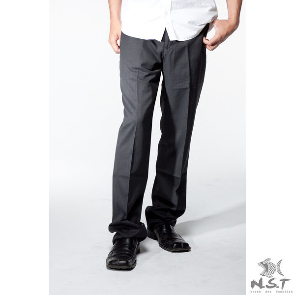 【NST Jeans】黑生彈力系列 羊毛西裝褲 (中腰) 390(5820) 平面/無打摺/早春商品