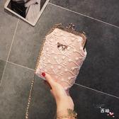 店慶優惠兩天-夏天迷你鏈條包女包2018新品潮豎款手機包正韓百搭ins斜挎小包包