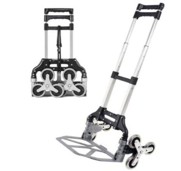 [2美國直購] 折疊爬梯手推車 Stair Climbing Cart, Portable Folding Hand Truck Trolley, Aluminum
